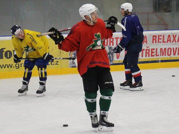 První letní trénink na ledě šumperských Draků