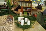 Adventní dílna ve volnočasovém centru Komín v Šumperku