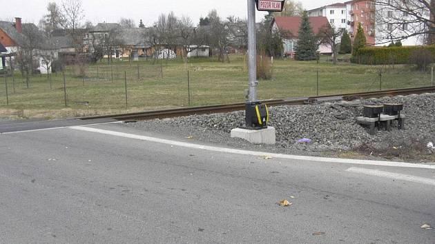 Přejezd v Postřelmově, kde došlo k nehodě