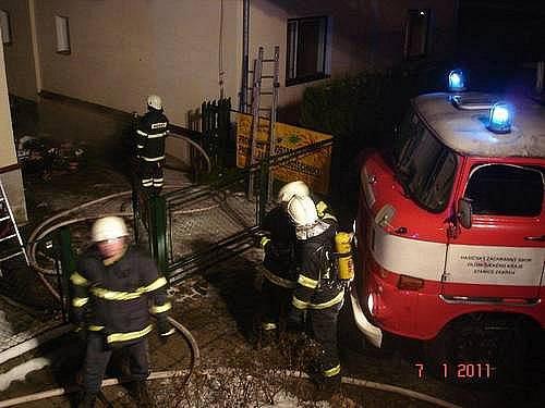 Požár rodinného domu v Postřelmovské ulici v Zábřehu