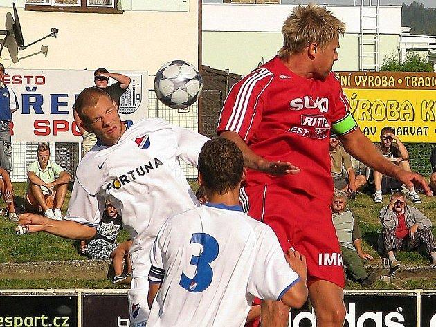 Zábřeh porazil doma Baník Ostrava (v bílém)