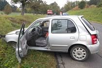Nehoda v ulici ČSA v Šumperku.