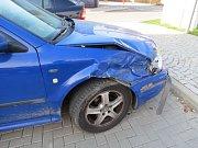 Nehoda v ulici Adolfa Kašpara v Bludově