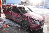 Nehoda před Parsem v Šumperku