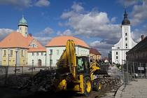 Rekonstrukce horní části náměstí v Jeseníku
