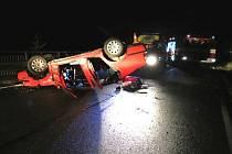 Víkendové dopravní nehody na Jesenicku.