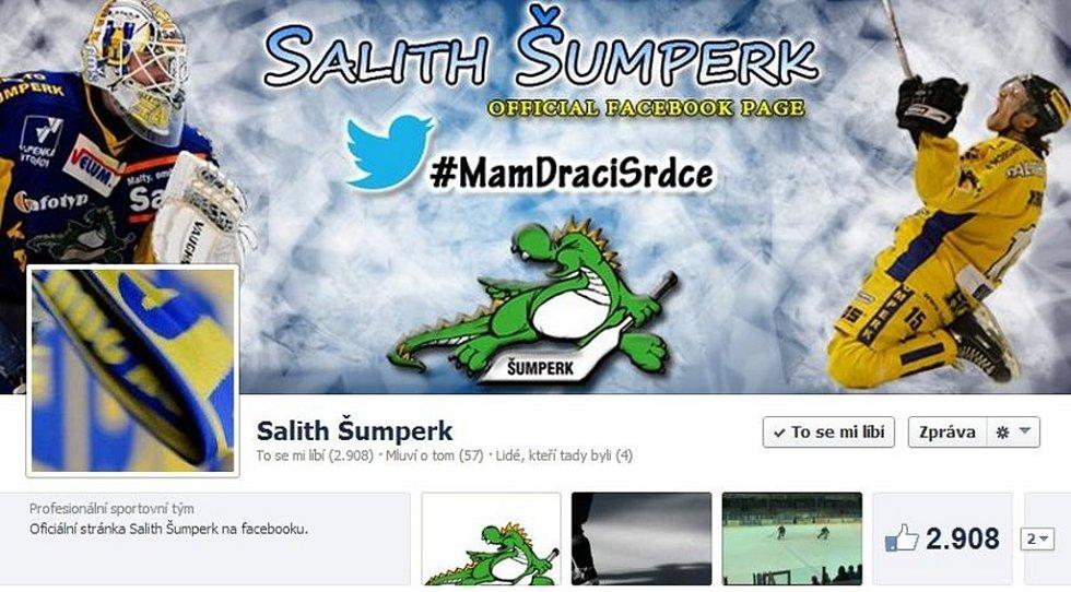 Úvodní stránka facebooku šumperského hokejového klubu.