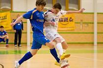 Šumperští futsalisté podlehli doma Teplicím (modré dresy)