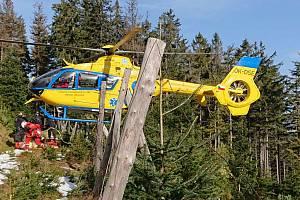 Záchranná akce v pohoří Králického Sněžníku ve čtvrtek 22. října.