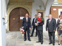 Ministr kultury Daniel Herman navštívil ve čtvrtek 3. září Zábřeh.