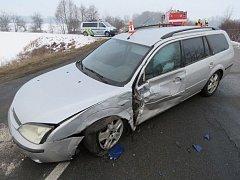 Ford Mondeo, který při nehodě 11. února u Mohelnice srazil protijedoucí mercedes.