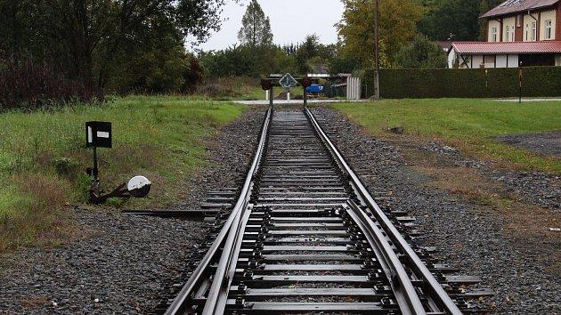 Železniční stanice Vidnava na území Velké Kraše v říjnu 2017.