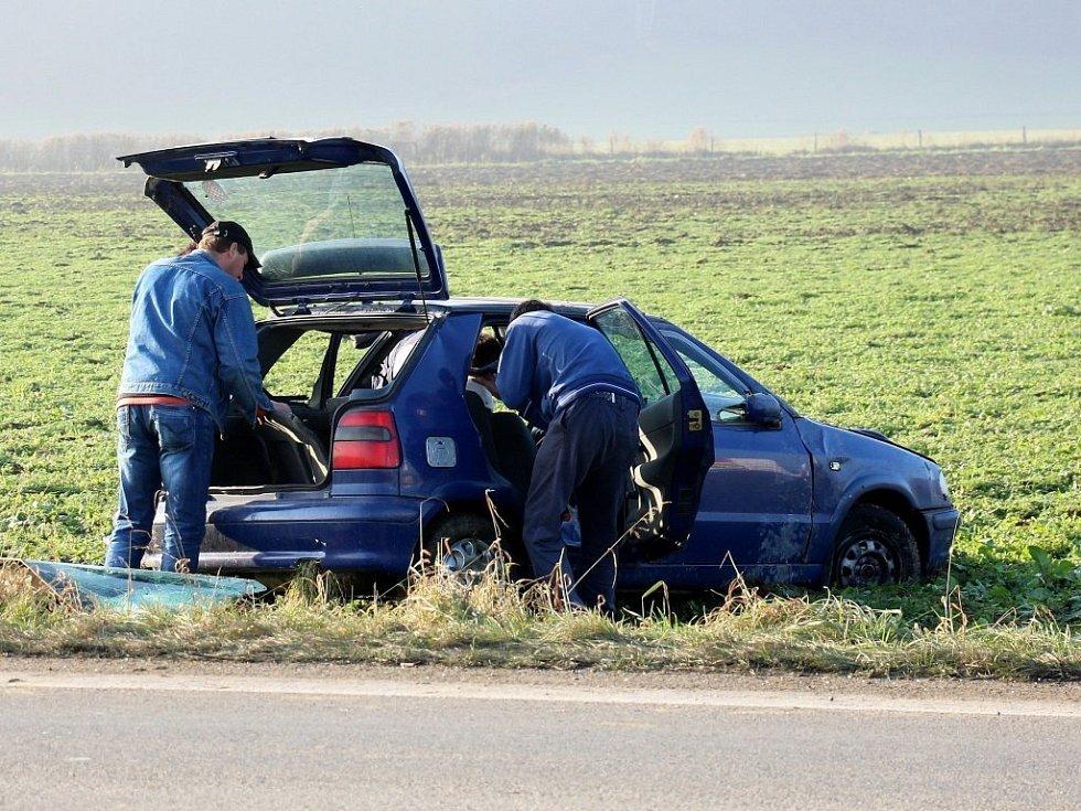 Nehoda mezi Šumperkem a Rapotínem.