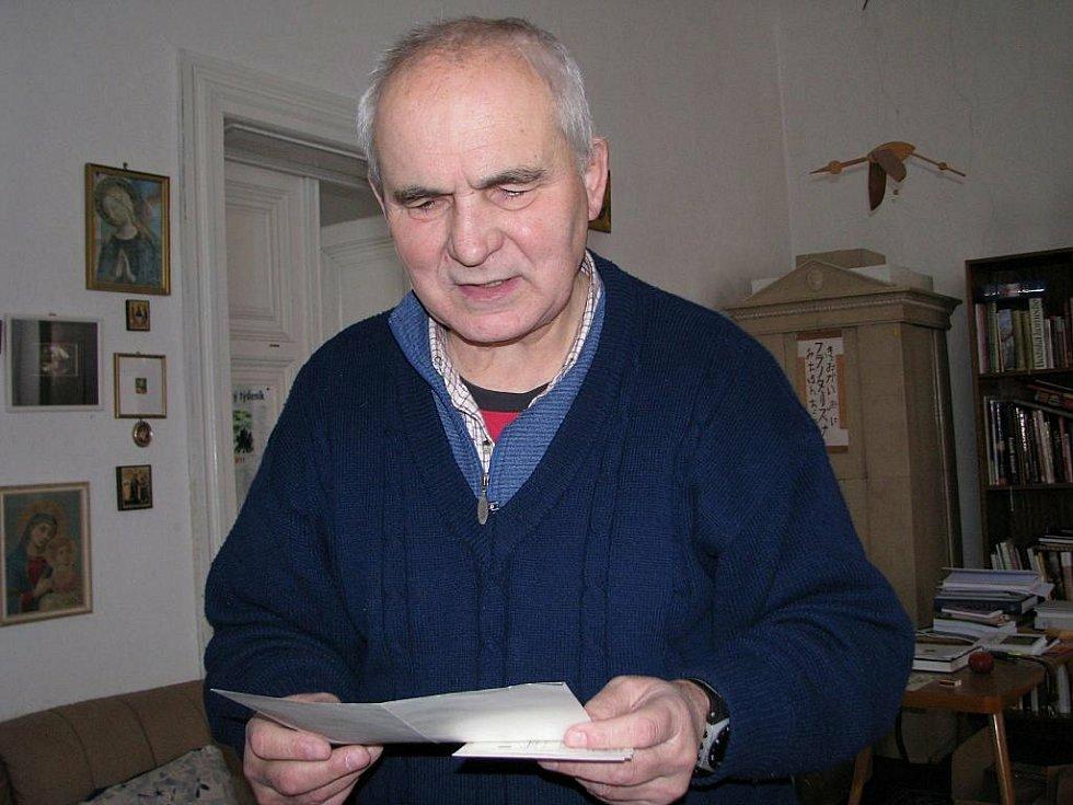 Kněz František Lízna v roce 2011.