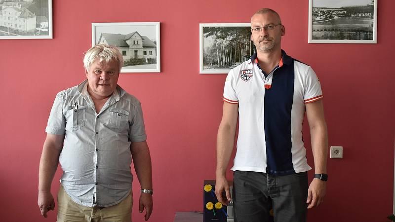 Starosta Kamenné Josef Vytřísal (vlevo) a místostarosta Jakub Nimmrichter.
