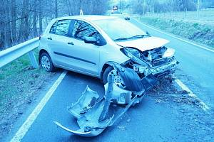 Nehoda mezi Bratrušovem a Šumperkem - 16. 4. 2021