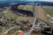 Větrné elektrárny v Ostružné.