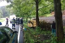 Snímky nehody, která se stala ve středu mezi Branou a Jindřichovem.
