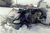 Nehoda na přejezdu ve Vikýřovické ulici v Šumperku