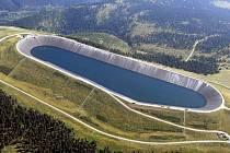 Horní nádrž přečerpávací vodní elektrárny Dlouhé Stráně