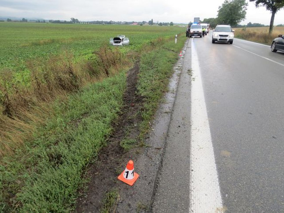 Dopravní nehoda u Libivé v pondělí 9. září.