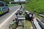 Nehoda motorkáře v neděli 2. června v Mohelnici.