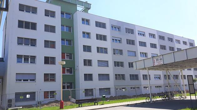 Zrekonstruovaný pavilon A Šumperské nemocnice.