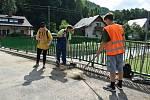 Bělá pod Pradědem - Horní Domašov. 19. července, den po bleskové povodni