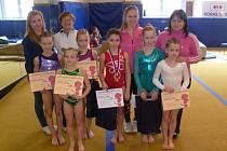 Šumperské sportovní gymnastky.