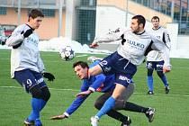 Přípravné utkání Zábřehu s Litovlí (modré dresy)