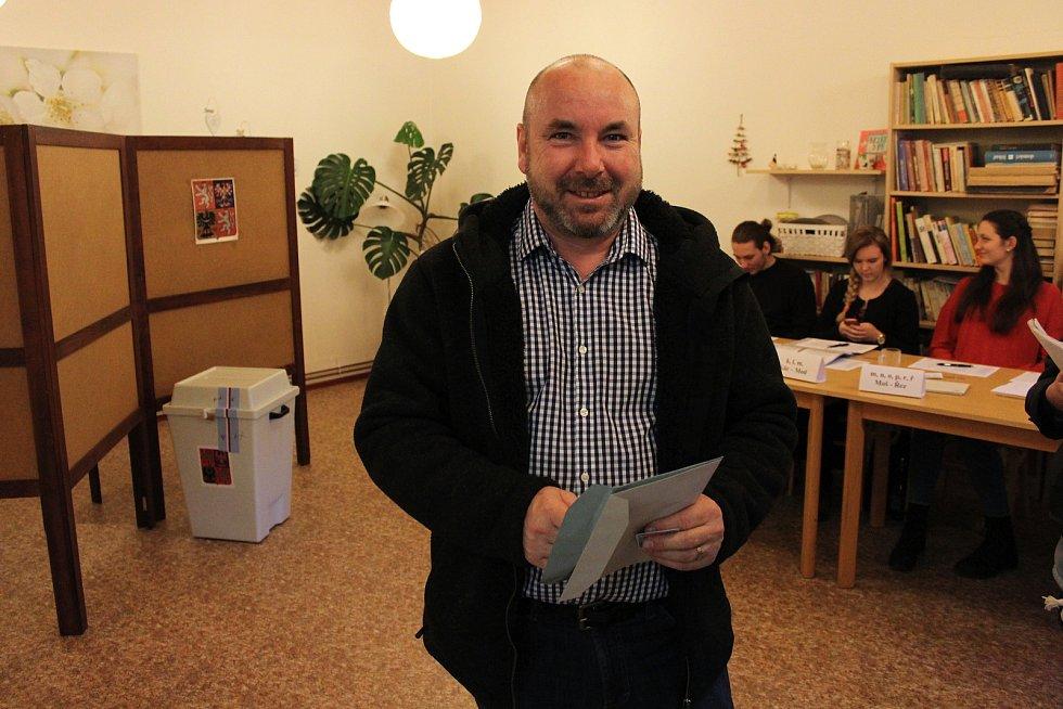 První kolo prezidentských voleb v horním okrsku v Loučné nad Desnou.