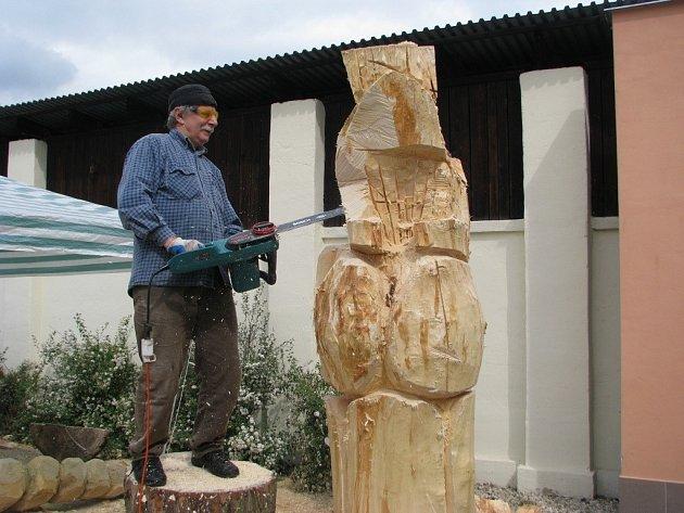 Dřevosochání v Šumperku.