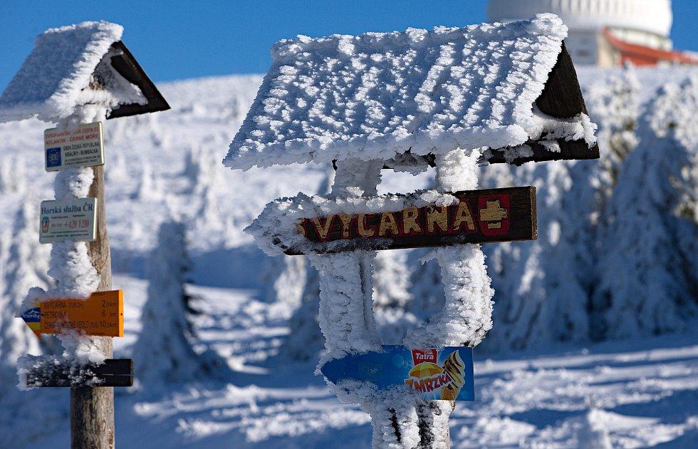 Zimní motivy v okolí Praděda.