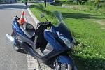 Nehoda motorkáře v Bělé pod Pradědem