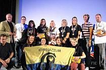 Šumperská atletická výprava, na snímku je také olympijská vítězka Bára Špotáková
