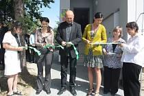 Otevírání chráněného bydlení pro lidi s hendikepem v šumperské Revoluční ulici.
