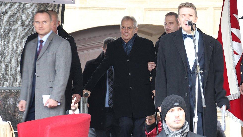 Prezident Miloš Zeman na návštěvě Mohelnice