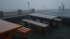 Na Pradědu v noci na 6. října 2017 napadl první sníh