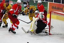 Hokejová příprava: Draci versus Opava (červené dresy).