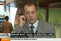 Zdeněk Brož ve vysílání CT24.