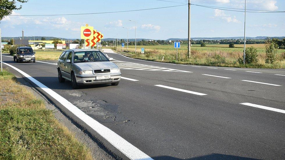 Okraj Mohelnice - směr, ze kterého povede dálnice D35 od Olomouce na Hradec Králové.