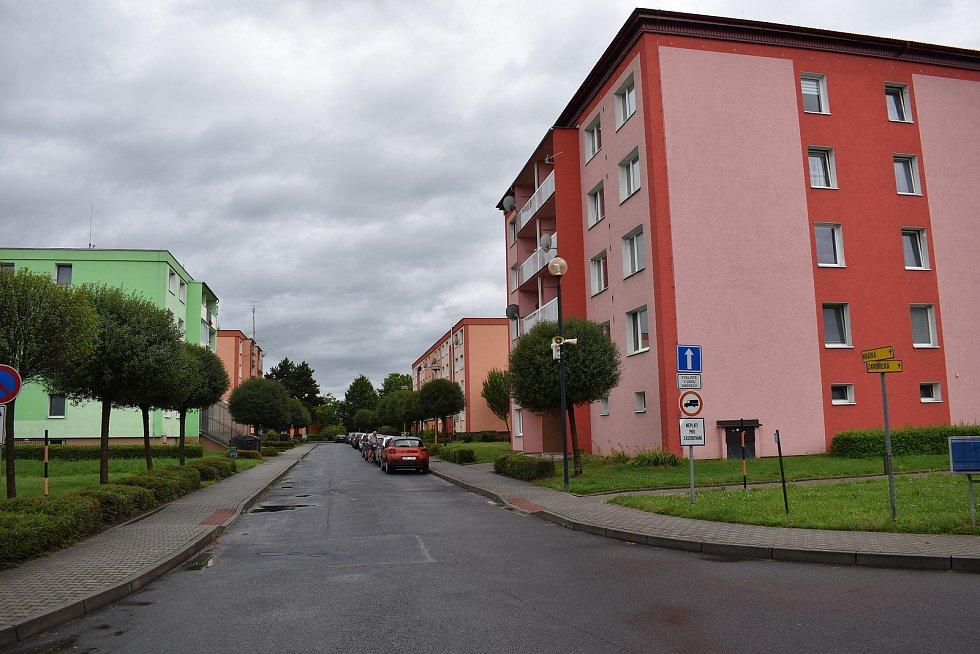 Postřelmov -sídliště Závořická.