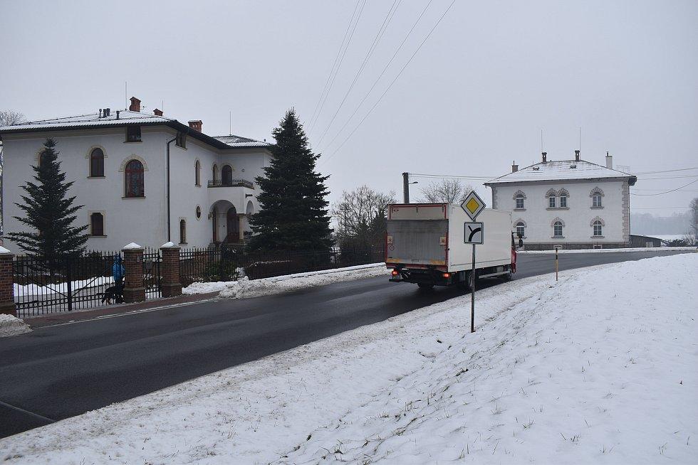 Sudkov - zástavba u bývalého Moravolenu.