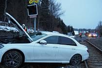 Nehoda mezi Brannou a Ostružnou v pátek 19. března.