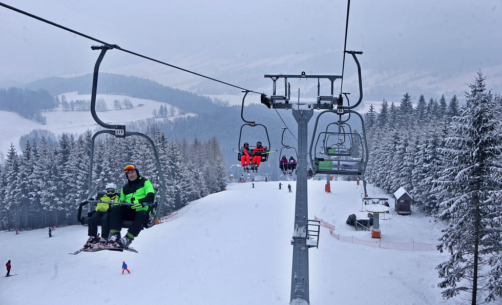 Lyžování ve Skiparku Filipovice v Jeseníkách - 9. února 2018