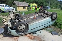 Nehoda v Loučné nad Desnou - Rejhoticích v pátek 7. června 2019.