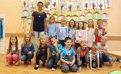 Třída 1. C. Základní školy 8. května Šumperk s třídní učitelkou Lenkou Prachařovou
