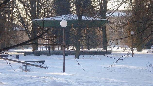 Altán ve Smetanových sadech v Šumperku