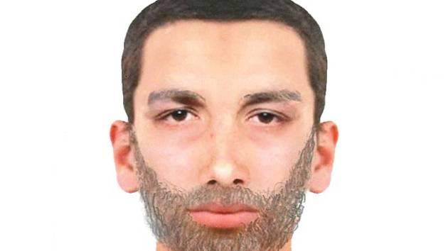 Pravděpodobná podoba pachatele, který v úterý 5. února přepadl poštu v Dolních Studénkách.