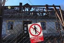 Požár domu v Lipové-Lázních, při němž zemřel muž